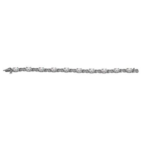 10.00 Carat CZ Prong Set Bracelet 925 Sterling Silver - image 1 of 2