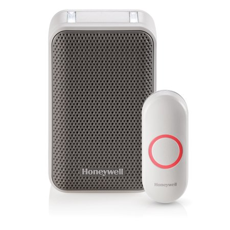 Designer Series Doorbell - Honeywell Series 3: Wireless Portable Doorbell with Strobe Light and Push Button (RDWL313A2000/E)