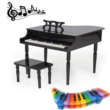 Grand Piano For Toddlers And Children Elegant And Small-Scale Toy Piano To Your Child's Room Or Play Area Black Classic Grand Piano