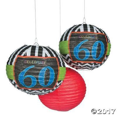 In 13773919 Celebrate 60Th Birthday Hanging Paper Lanterns