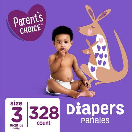 Parent's Choice Diapers, Size 3, 328 Diapers (Mega Box)