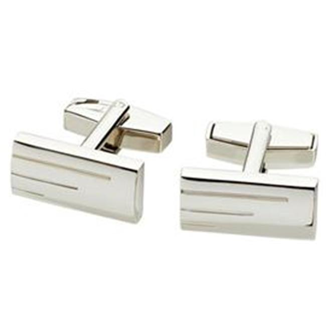 Visol VCUFF611 Janus Nickel Chrome Plated Cufflinks