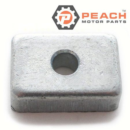 Peach Motor Parts PM-3H6602180M  PM-3H6602180M Anode, Transom Bracket & Lower Unit Gearcase Zinc; Replaces Nissan Tohatsu®: 3H6602180M, 3H6-60218-0, 3H6602180
