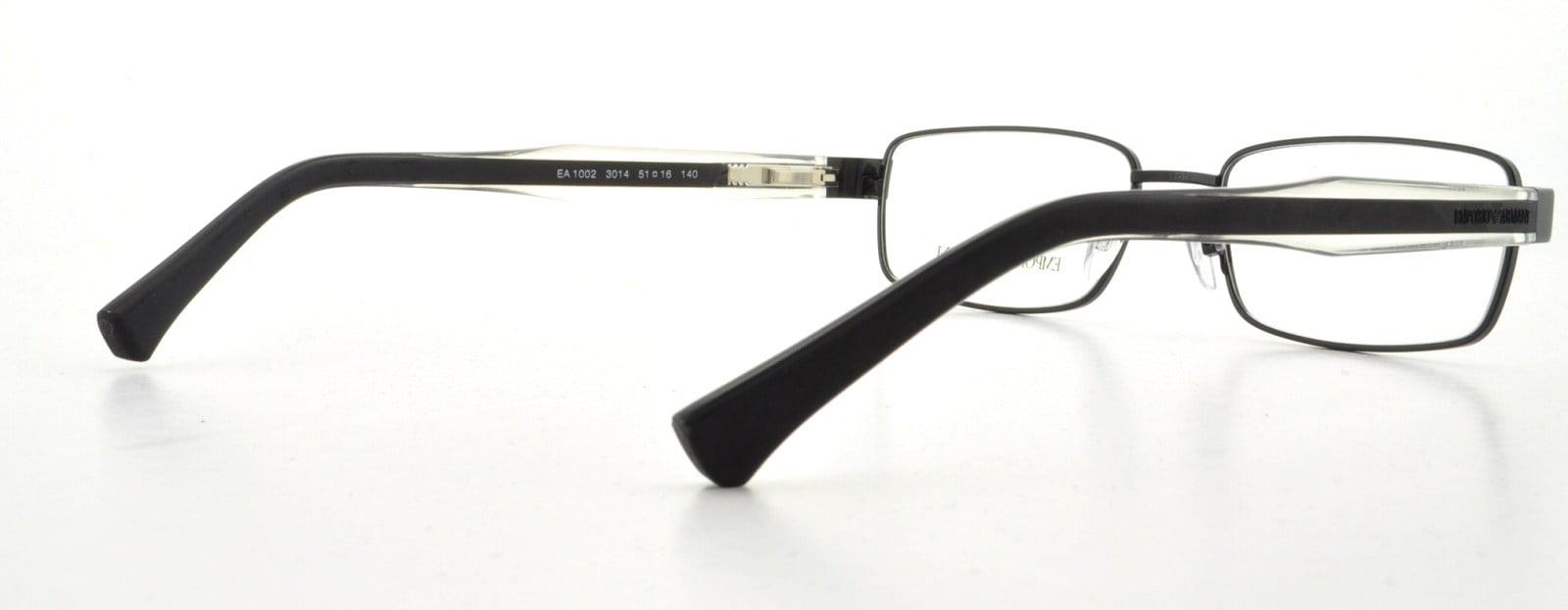 d3b34f35ee EMPORIO ARMANI Eyeglasses EA 1002 3014 Black 53MM - Walmart.com