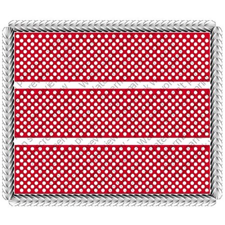 Red Polka Dot Birthday Baby Shower Gender Reveal Celebration Cake Borders Designer Prints Edible Image Cake Decoration - Polka Dot Cake