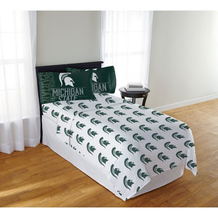 Michigan State Embroidery - NCAA Michigan State Spartans Affiliation Full Sheet Set, 1 Each