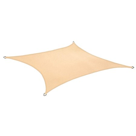 Beige Color Heavy Duty Waterproof Sun Shade Sail UV Block Shades Canopy Cover for Patio Deck Pool Pergola Outdoor and Facility - 10' x 6' ()