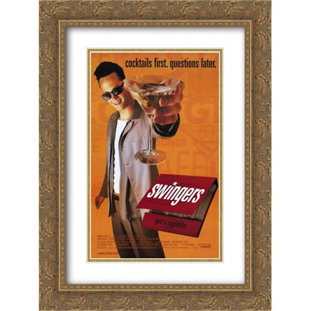Swingers 20x24 Double Matted Gold Ornate Framed Movie Poster Art Print