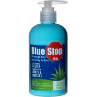 Blue Stop Max Massage Gel for Body Aches, 10 fl oz