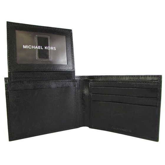 5f27ecaa6dd1 Michael Kors - Mens 2930326 Passcase Wallet, Black Smooth - Walmart.com