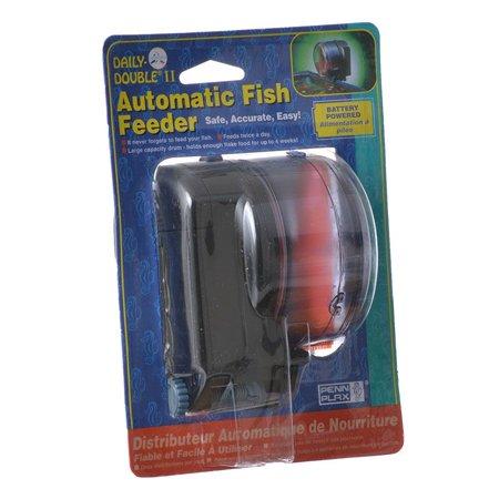 Penn Plax Daily Double II Automatic Fish Feeder 3.5L x 3.5W x 4H