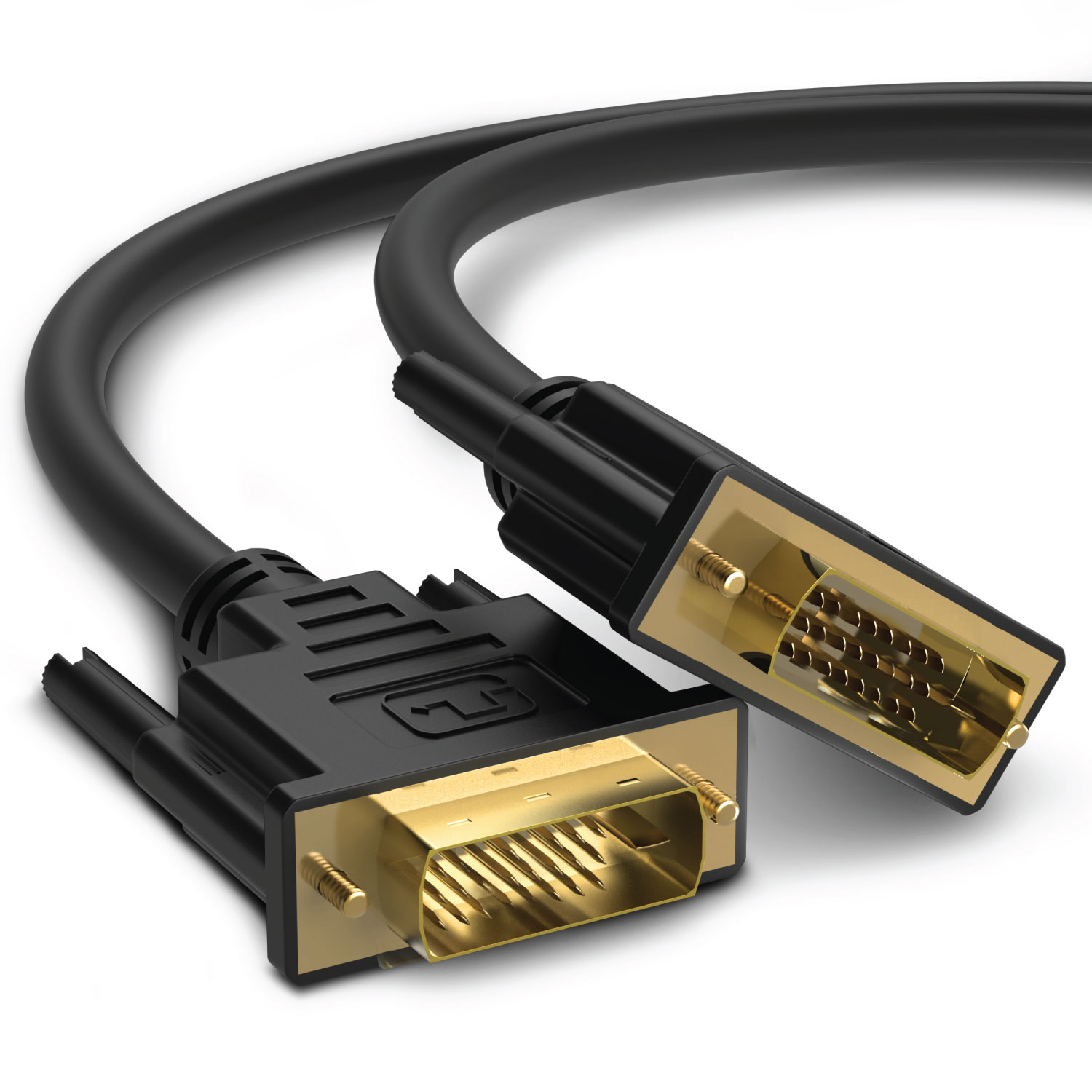 Fosmon Gold Plated DVI-D Digital Dual Link Video Cable for PC Computer Monitors HDTV Projectors - 6 FT / 1.8 M