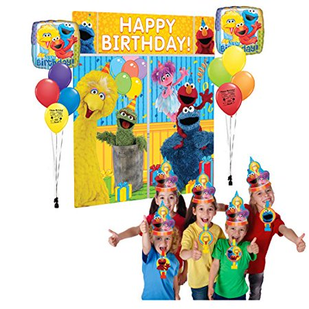 Sesame Street Scene Setter Photo Booth Balloon - Photo Balloons Cheap