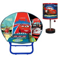Disney - Cars Saucer Chair & Table Lamp Bundle