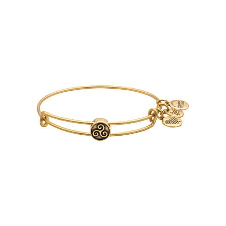 Alex and Ani Triskelion Bead Charm Bangle Bracelet - Rafaelian Gold