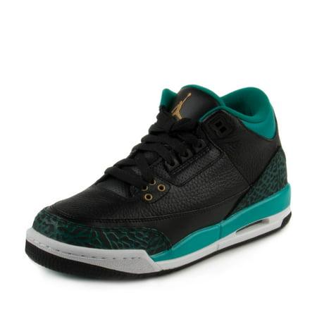 153c57e4da1889 Nike - Nike Girls Air Jordan 3 Retro GG Black Metallic Gold-Teal 441140-018  - Walmart.com