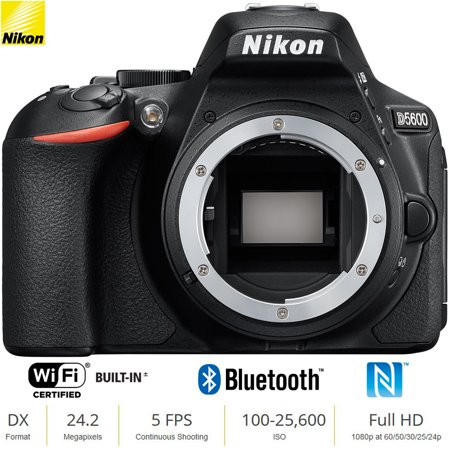 Nikon D5600 24 MP DX-Format Full HD 1080p Digital SLR Camera Body 1575B - Black (Certified
