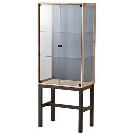Ikea Glass Door Cabinet With 2 Doors Pine Gray 14210262291016