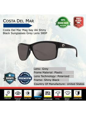 3fb3d52ec369c Product Image Costa Del Mar Polarized Mag Bay AA11OBMP Black Rectangle  Sunglasses