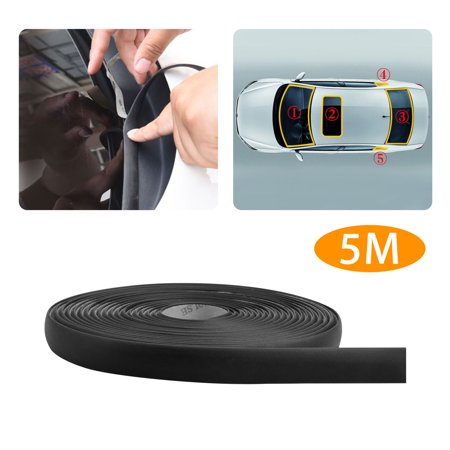 5M/196 Inchs Waterproof Rubber Seal Weather Strip Trim for Car Front Rear Windshield ()