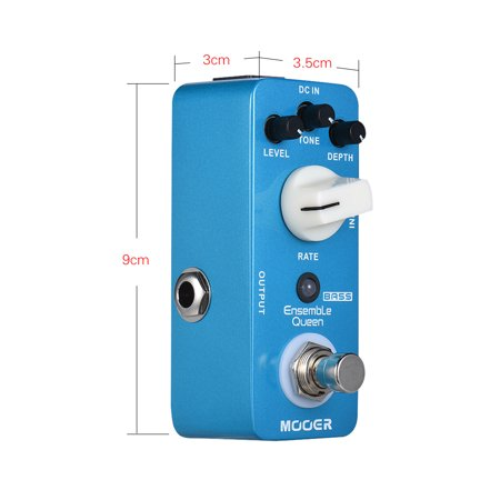 MOOER Ensemble Queen Bass Chorus Effect Pedal True Bypass