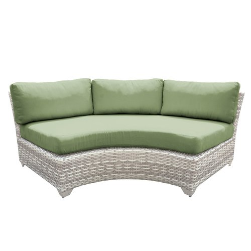 Sol 72 Outdoor Falmouth Patio Sofa with Cushions (Set of 2)
