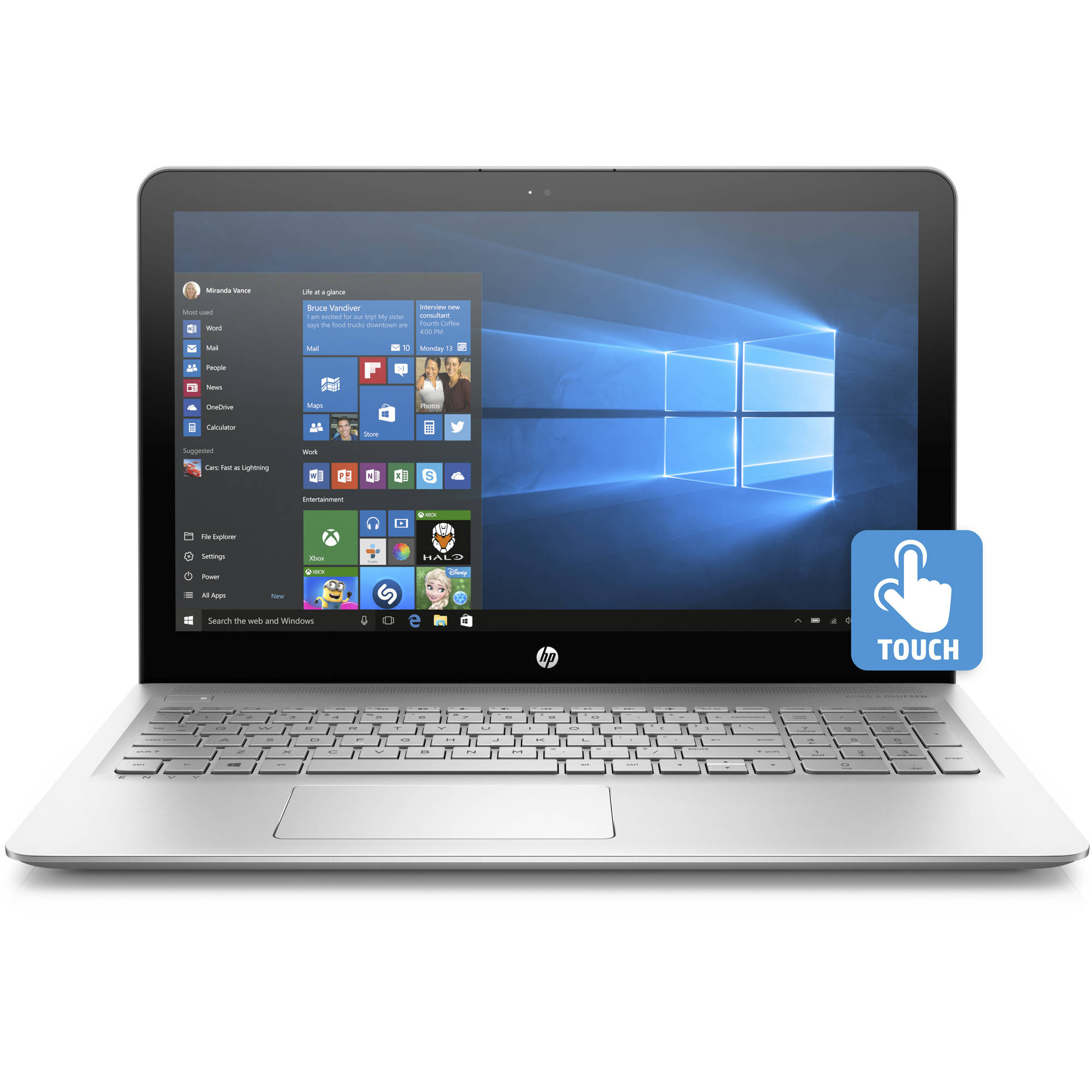 "Refurbished HP Envy 15-as014wm 15.6"" Laptop, Touchscreen, Windows 10 Home, Intel Core i7-6500U Processor, 8GB RAM, 1TB Hard Drive"