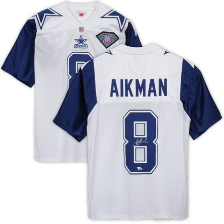 detailing 9f4b7 49b78 Troy Aikman Dallas Cowboys Autographed White Alternate Mitchell & Ness  Authentic Jersey - Fanatics Authentic Certified