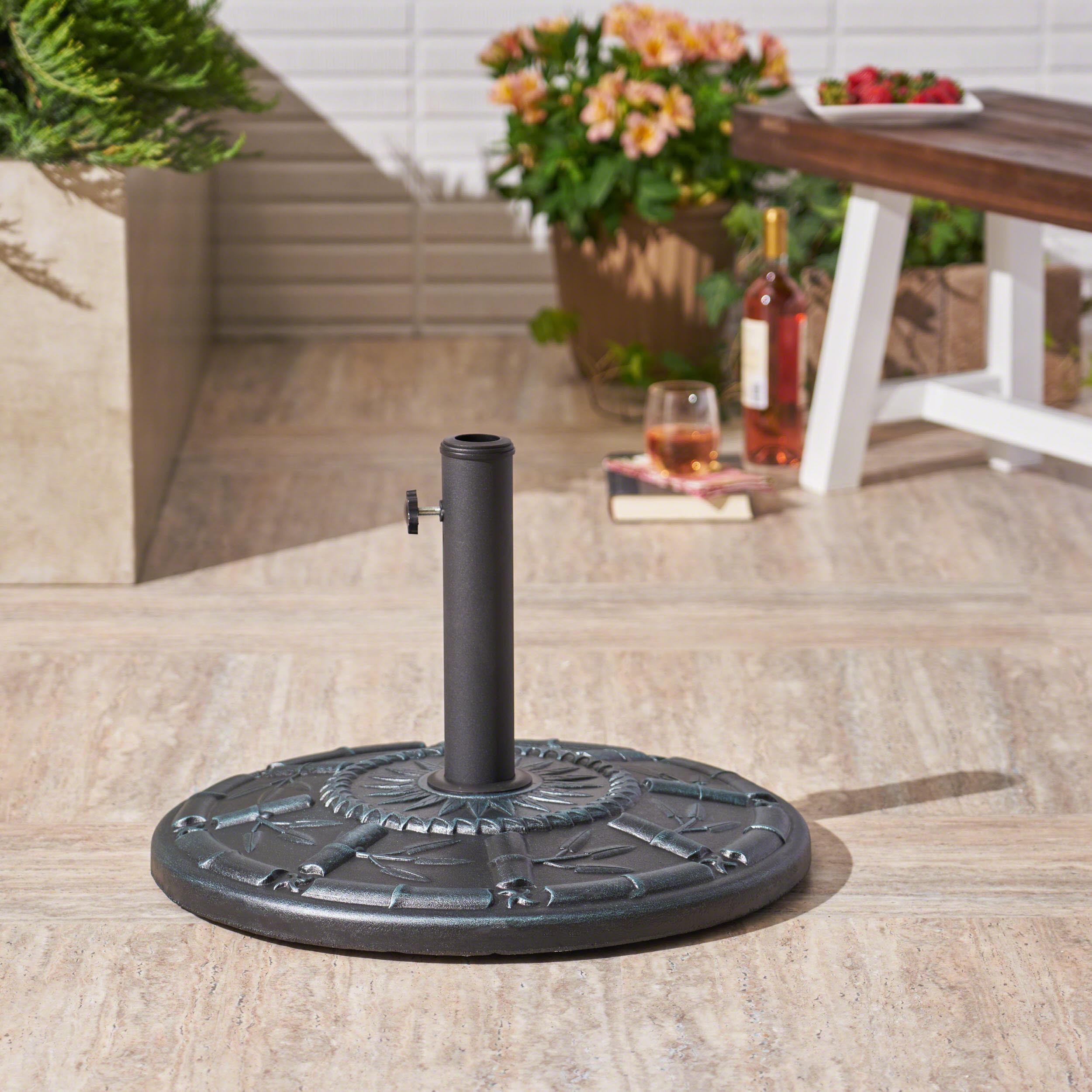 Archer Outdoor 60 lb. Concrete Circular Umbrella Base, Weathered Bronze