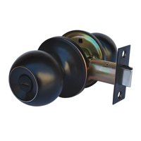 Constructor CHRONOS Privacy Door Knob Handle Lock Set for Bedroom and Bathroom Oil Rubbed Bronze Finish