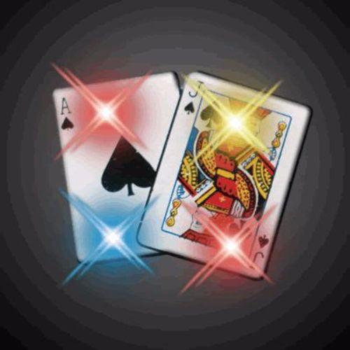 Blackjack Flashing Body Light Lapel Pins