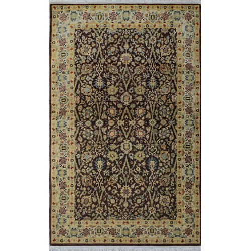 Astoria Grand One-of-a-Kind Rodiguez Hand-Knotted Wool Brown Area Rug
