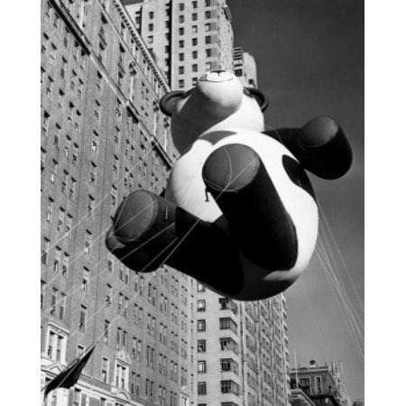 Low angle view of a balloon at a parade Macys Thanksgiving Day Parade New York City USA 1946 Canvas Art -  (18 x 24) - New York City Halloween Parade