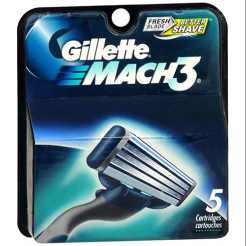 Gillette MACH3 Cartridges 5 Each (Pack of 4)