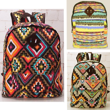 Women School Backpacks For Adults Canvas Casual Travel Rucksack Book Bag  Yellow Color