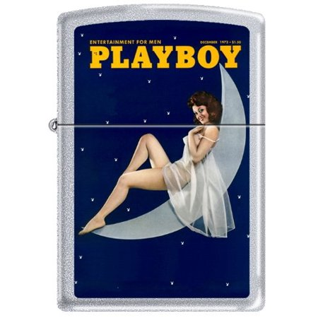 Zippo Playboy December 1973 Cover Satin Chrome Windproof Lighter NEW RARE ()