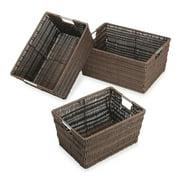 Whitmor Rattique® Storage Baskets - Set of 3 - Java