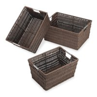 Whitmor Rattique Storage Baskets - Set of 3 - Java