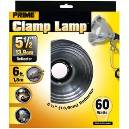 Prime Reflector Clamp Lamp With 6-Feet 18/2 SPT-2 Cord,