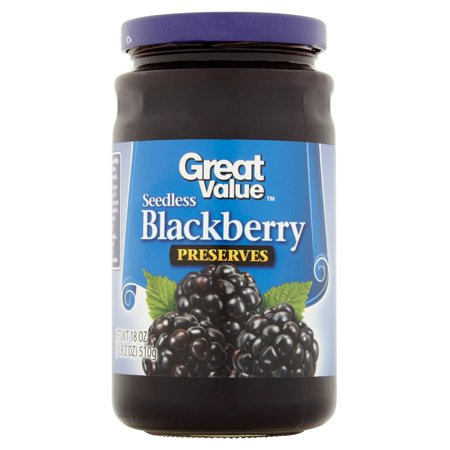 (2 Pack) Great Value Seedless Blackberry Preserves, 18