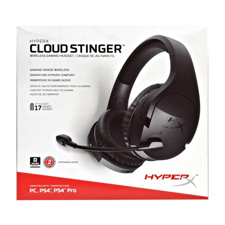 HyperX Cloud Stinger Wireless Gaming Headset with Long Lasting Battery Up to 17 Hours of Use, Immersive in-Game Audio,