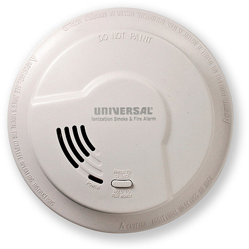 Universal Security Instruments 976LR 9V Smoke and Fire Alarm with Quick Change Battery Installation