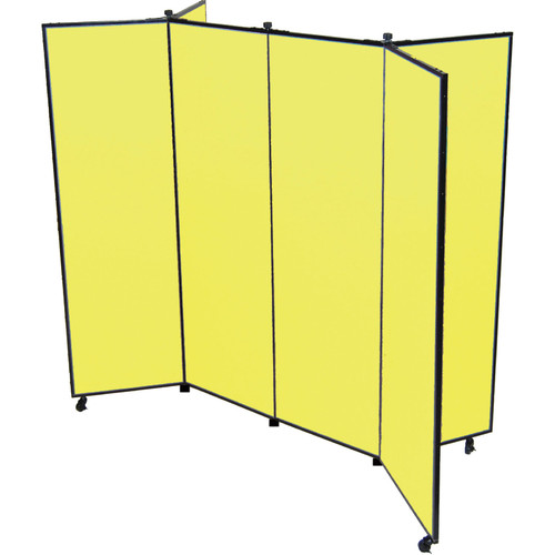Screenflex 6 Panel Mobile Display Tower Free Standing Bulletin Board