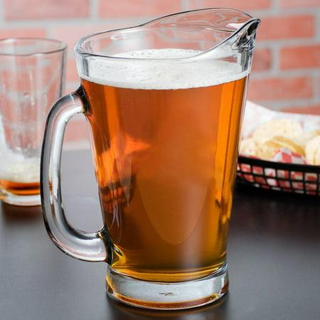 Monogram Anchor 55 oz Hocking Glass Beer Wagon Pitcher (Monogram Postage)