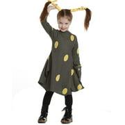 KidCuteTure Little Girls Mimosa Yellow Polka Dots Danna Designer Fall Dress 2