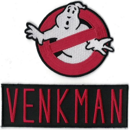 Embroidered Name Tape (GHOSTBUSTERS Logo & VENKMAN Name Set of 2 Embroidered PATCHESBONUS GIFT: Come with a free sewing kit in case you need to sew the patch on. One Set per order By Main Street 247 )