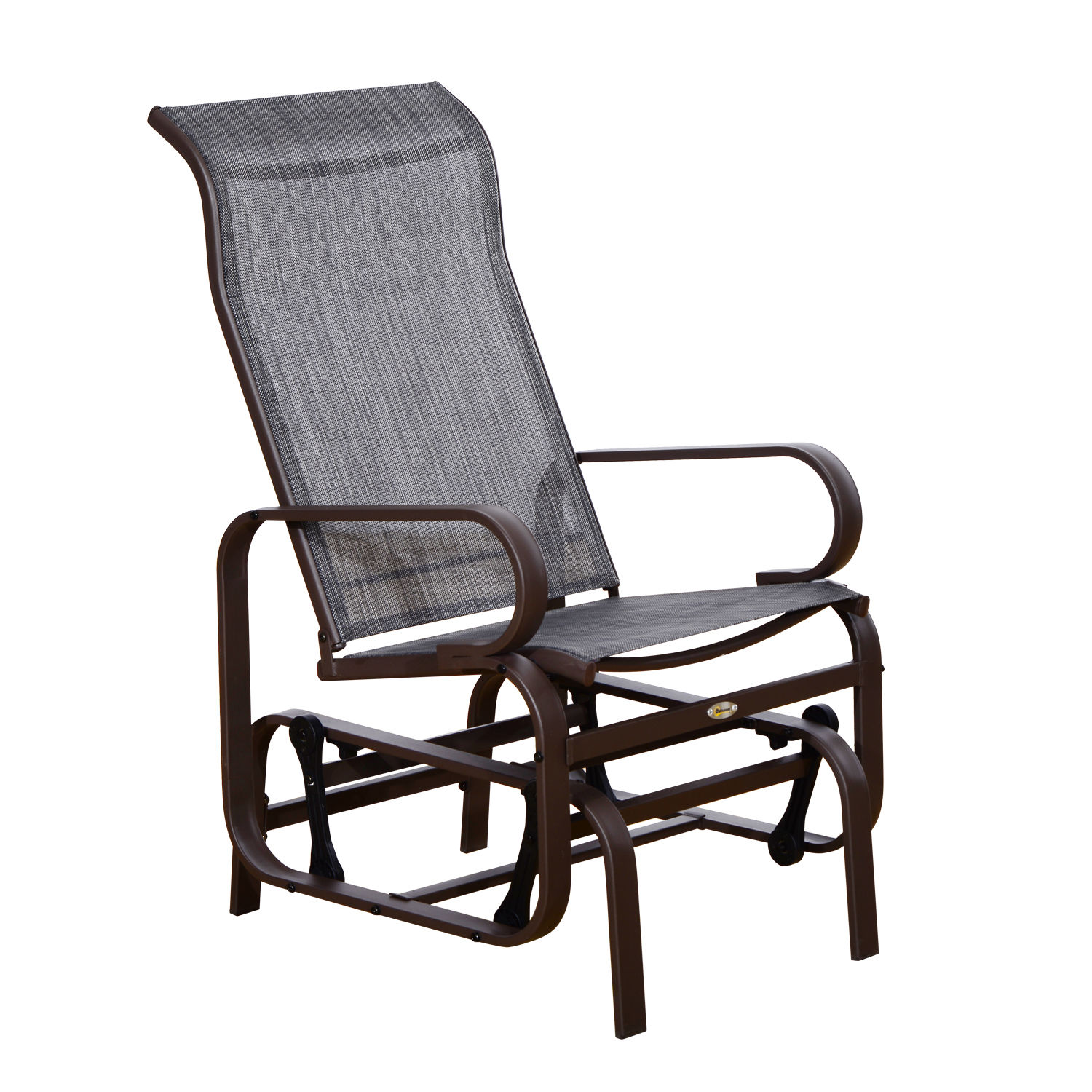 Aosom Outsunny Outdoor Fabric Gliding Chair - Brown