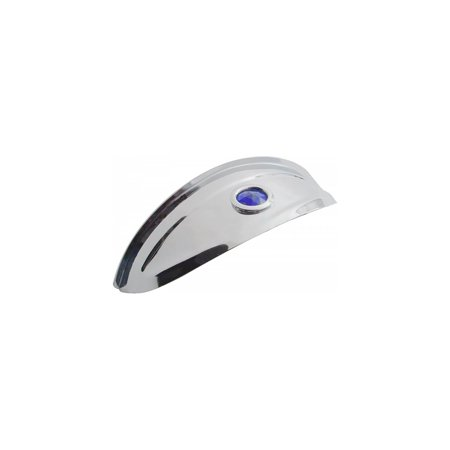 Headlamp Visor (Eckler's Premier  Products 57335510 Chevy Headlight Visor Stainless Steel With Blue Dot )