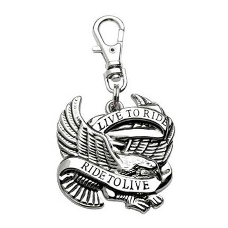Unisex Live To Ride Ride To Live Eagle Lobster Claw Clasp Zipper Pull 61034