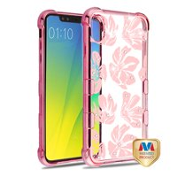 Apple iPhone Xs Max (6.5 Inch) - Phone Case Slim Thin Hybrid Silicone Rubber Soft Protective Phone Case Cover Magnolia Garden Rose Gold Transparent Phone Case for Apple iPhone Xs Max